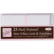Набор заготовок для открыток с конвертами 10 х 10 см, 25 шт