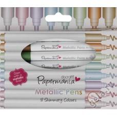 Набор разноцветных  маркеров, цвета металлик