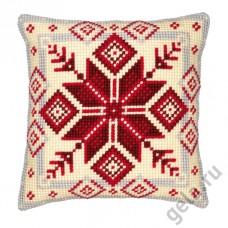 Подушка Норвежская Снежинка набор для вышивания, 1200/115