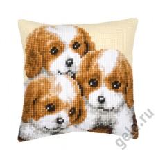 Подушка Три щенка набор для вышивания 1200/128