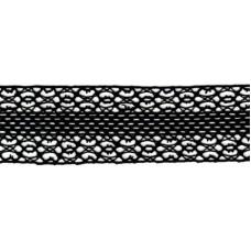 Мерсеризованное хлопковое кружево, 50 мм, цвет черный