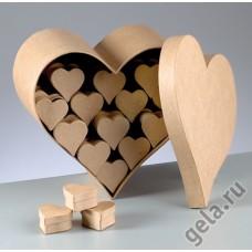 Заготовка для декупажа, набор коробочек Сердечки