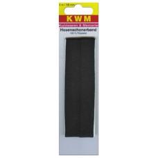 Тесьма брючная пришивная, 15 мм, черная, 1 м