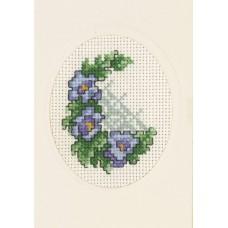Открытка Виола, набор для вышивания