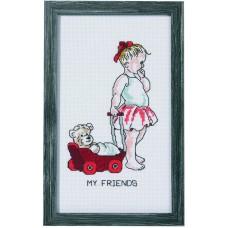 Набор для вышивания Девочка с куклой