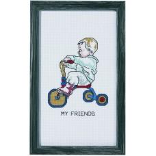 Набор для вышивания Мальчик на трёхколесном велосипеде