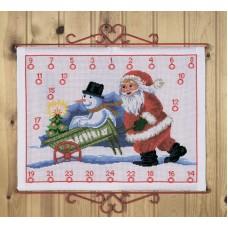 Набор для вышивания, календарь Рождественский календарь