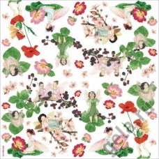Салфетка рисовая Цветочные феи