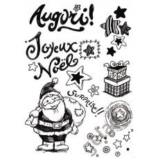 Штамп силиконовый Рождество