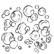 Деревянный штамп Пузырьки