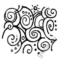 Деревянный штамп Спираль