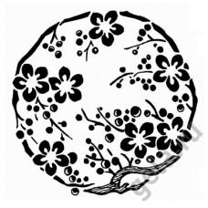 Деревянный штамп Цветы