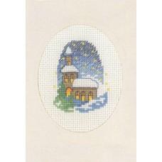 Открытка Костел, набор для вышивания