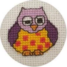 Пуговица Сова набор для вышивания