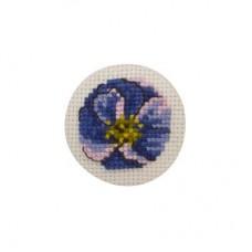Пуговица Фиалка набор для вышивания