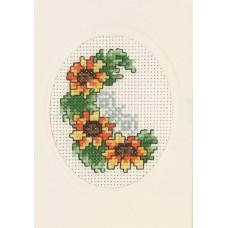 Открытка Подсолнухи, набор для вышивания