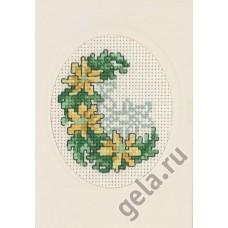 Открытка Нарциссы, набор для вышивания