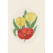 Открытка Тюльпаны, набор для вышивания