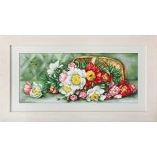 Набор для вышивания Цветы в корзине, Luca-S