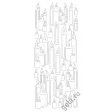 Наклейки контурные Свечи ( цена за блистер)