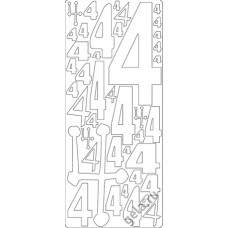 Наклейки контурные Цифры с №4  ( цена за блистер)