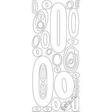 Наклейки контурные Цифры с №0  ( цена за блистер)