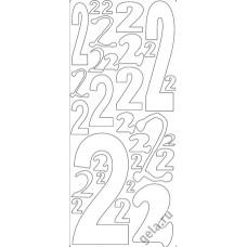 Наклейки контурные Цифры с №2  ( цена за блистер)