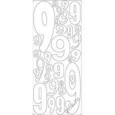 Наклейки контурные Цифры с №9  ( цена за блистер)