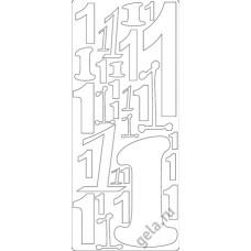 Наклейки контурные Цифры с №1  ( цена за блистер)