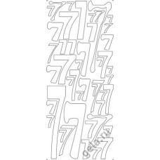 Наклейки контурные Цифры с №7  ( цена за блистер)