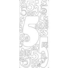 Наклейки контурные Цифры с №5  ( цена за блистер)