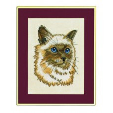 Набор для вышивания Персидский кот, лён 26 ct
