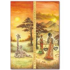Фетр с принтом Африка