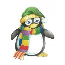 Фетр с принтом (подложка) Пингвин
