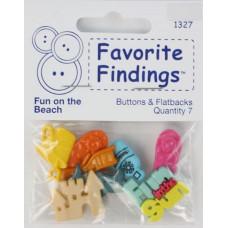 Набор декоративных элементов Favorite Findings Пляжное веселье