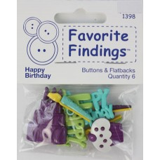 Набор декоративных элементов Favorite Findings День Рождения