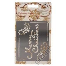Трафарет металлический Веселого Рождества SILENT NIGHT