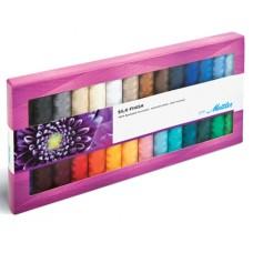 Набор с нитками Silk Finish  в подарочной упаковке, 28 катушек