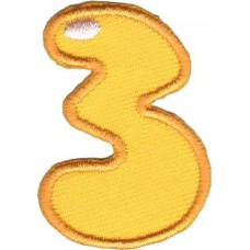 Термоаппликации HKM Цифра 3 цветная, 5 шт