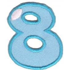 Термоаппликации HKM Цифра 8 цветная, 5 шт