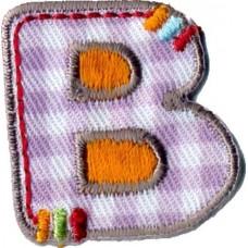 Термоаппликации HKM Буква В цветная, 5 шт