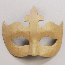 Заготовка из папье-маше маска, картон, 14 x 17 cм