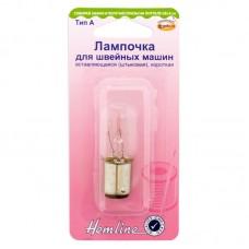 Лампочка для швейных машин, вставляющаяся (штыковая), короткая