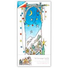 Набор для создания открытки Заснеженное Рождество