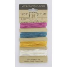 Шнуры на блистере HEMPTIQUE #10 - 0,5 мм, 4 цвета по 12,8 м