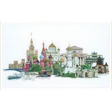 Набор для вышивания Москва, канва лён 36 ct