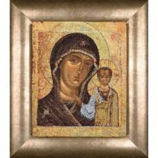Набор для вышивания Образ Казанской матери, канва аида 18 ct