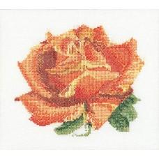 Набор для вышивания Красная роза, канва аида 18 ct
