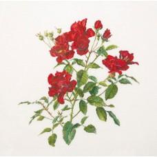 Набор для вышивания Пылкий Цветок, канва лён 36 ct