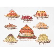 Набор для вышивания Сладкие блюда, канва лён 32 ct
